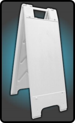 Narrow External A frame sign stand in white